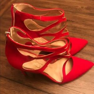Jessica Simpson Red Suede Heels